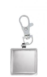Key Chain Square Insert Holder, silver