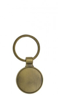 Key Chain Round Insert Holder, Gold