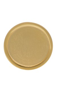 Lapel Pin Insert Holder, 30mm Bright Gold