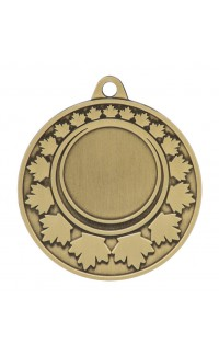 "Medal Maple Leaf 1"" Insert 2"" Dia. Gold"