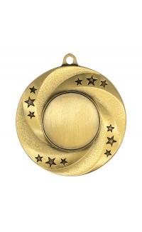 """Medal 1"""" Insert Stars/Swirl, Gold"""