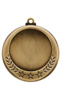 "Medal 2"" Insert 3 Stars/Laurel, Gold"