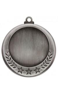 """Medal 2"""" Insert 3 Stars/Laurel, Silver"""