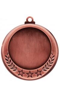 """Medal 2"""" Insert 3 Stars/Laurel, Bronze"""