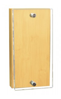 """Bamboo Monument Billboard with Glass, 7 7/8"""" x 4"""""""