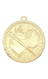 "Medal Triumph 2"" Dia. Baseball, Bright Gold"