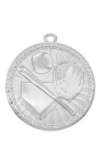 "Medal Triumph 2"" Dia. Baseball, Bright Silver"