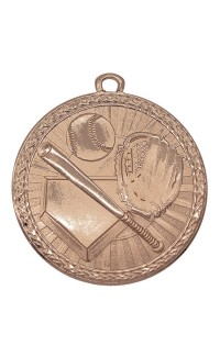 "Medal Triumph 2"" Dia. Baseball, Antique Bronze"