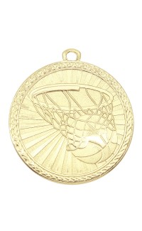 "Medal Triumph 2"" Dia. Basketball, Bright Gold"