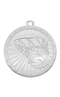 "Medal Triumph 2"" Dia. Basketball, Bright Silver"
