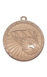 "Medal Triumph 2"" Dia. Basketball, Antique Bronze"