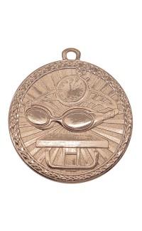 """Swimming Medal Triumph 2"""" Dia. Antique Bronze"""