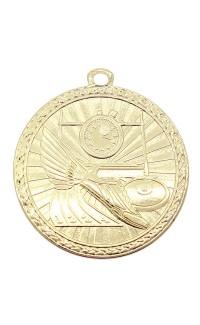 """Track Medal Triumph 2"""" Dia. Bright Gold"""