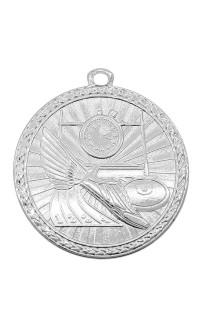 """Track Medal Triumph 2"""" Dia. Bright Silver"""