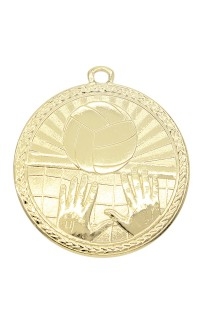 "Volleyball Medal Triumph 2"" Dia. Bright Gold"