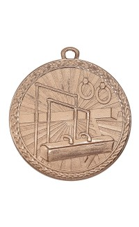 "Medal Triumph 2"" Dia. Gymnastics, Antique Bronze"