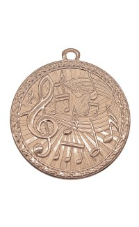 "Medal Triumph 2"" Dia. Music, Antique Bronze"