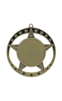 """Medal Star 1.5"""" Insert 2.75"""" Dia. Gold"""