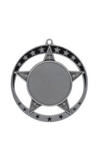 "Medal Star 1.5"" Insert 2.75"" Dia. Silver"