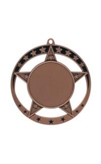 """Medal Star 1.5"""" Insert 2.75"""" Dia. Bronze"""