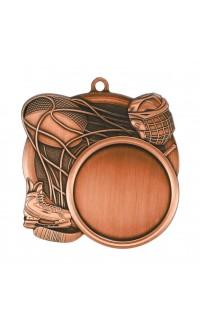 "Medal Sport 1.5"" Insert 2.5"" Dia. Hockey Bronze"