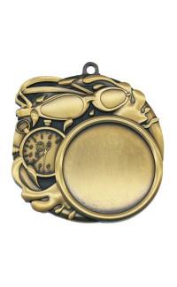 """Swimming Medal Sport 1.5"""" Insert 2.5"""" Dia. Gold"""
