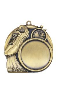 """Track Medal Sport 1.5"""" Insert 2.5"""" Dia. Gold"""