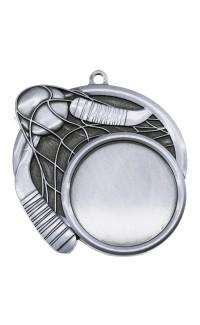 """Ball Hockey Medal Sport 1.5"""" Insert 2.5"""" Dia. Silver"""