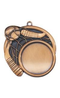 "Ball Hockey Medal Sport 1.5"" Insert 2.5"" Dia. Bronze"