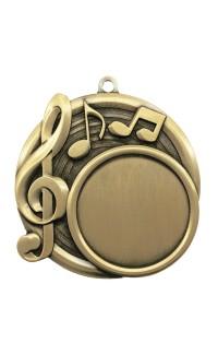 """Medal Sport 1.5"""" Insert 2.5"""" Dia. Music Gold"""