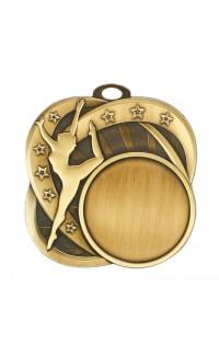 """Dance Medal Sport 1.5"""" Insert 2.5"""" Dia. Gold"""