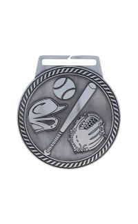 """Medal Titan Baseball 3"""" Dia. Silver"""