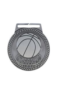 """Medal Titan Basketball 3"""" Dia. Silver"""