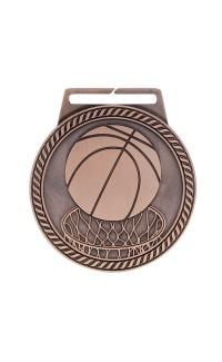 """Medal Titan Basketball 3"""" Dia. Bronze"""