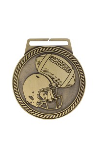 "Medal Titan Football 3"" Dia. Gold"