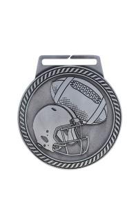 "Medal Titan Football 3"" Dia. Silver"