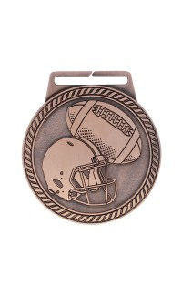 "Medal Titan Football 3"" Dia. Bronze"