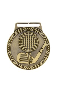 "Golf Medal Titan 3"" Dia. Gold"