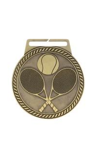 """Medal Titan Tennis 3"""" Dia. Gold"""