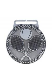 """Medal Titan Tennis 3"""" Dia. Silver"""