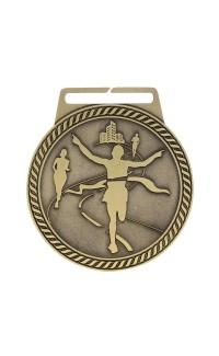 "Marathon Medal Titan 3"" Dia. Gold"