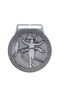 "Marathon Medal Titan 3"" Dia. Silver"