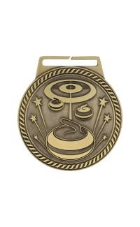 """Medal Titan Curling 3"""" Dia. Gold"""