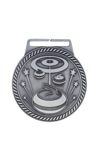 "Medal Titan Curling 3"" Dia. Silver"