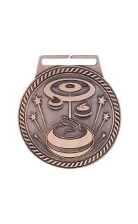 "Medal Titan Curling 3"" Dia. Bronze"