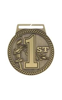 "Medal Titan 1st 3"" Dia. Gold"