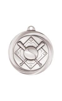 """Medal Vortex 2"""" Baseball Silver"""