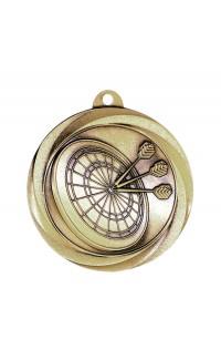 "Darts Medal Vortex 2"" Gold"