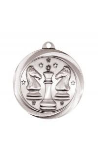 "Chess Medal Vortex 2"" Silver"