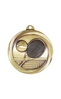 """Tennis Medal Vortex 2"""" Gold"""